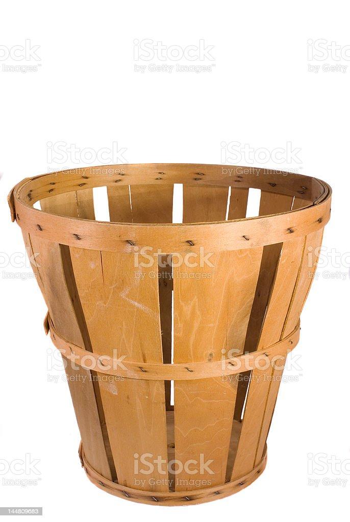 Cesta de produtos de madeira foto royalty-free