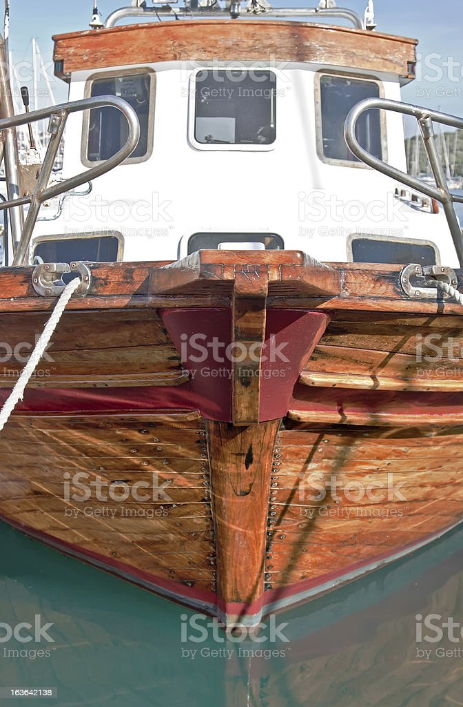 Wooden prow royalty-free stock photo