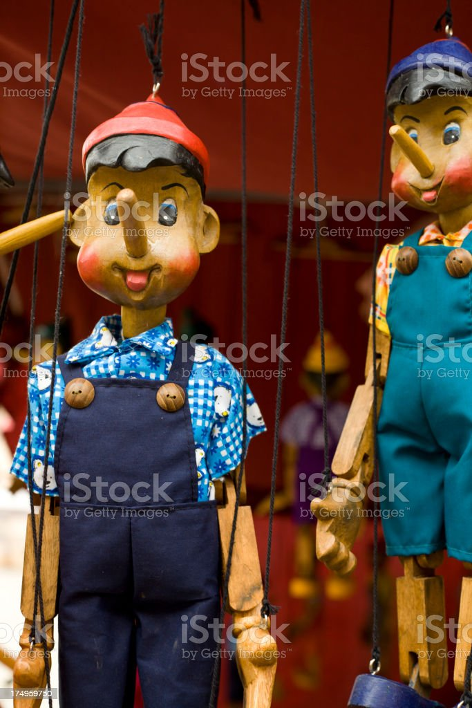 Wooden Puppets royalty-free stock photo