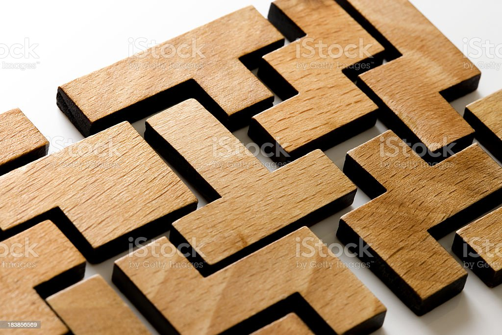 Wooden Puzzle royalty-free stock photo