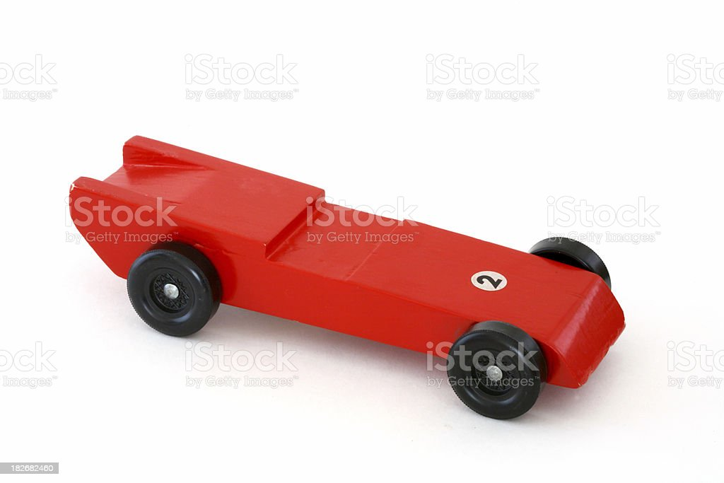 Wooden Racecar royalty-free stock photo