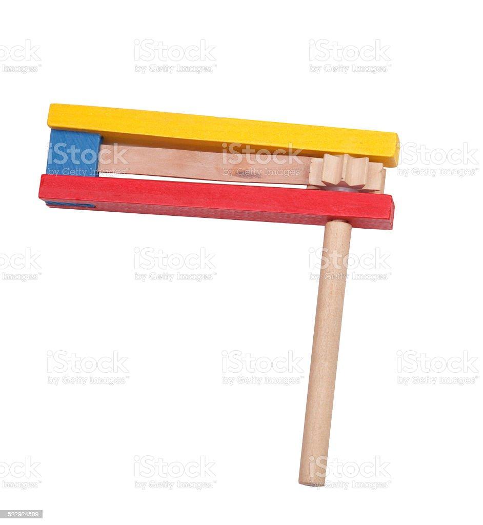 Wooden ratchet stock photo