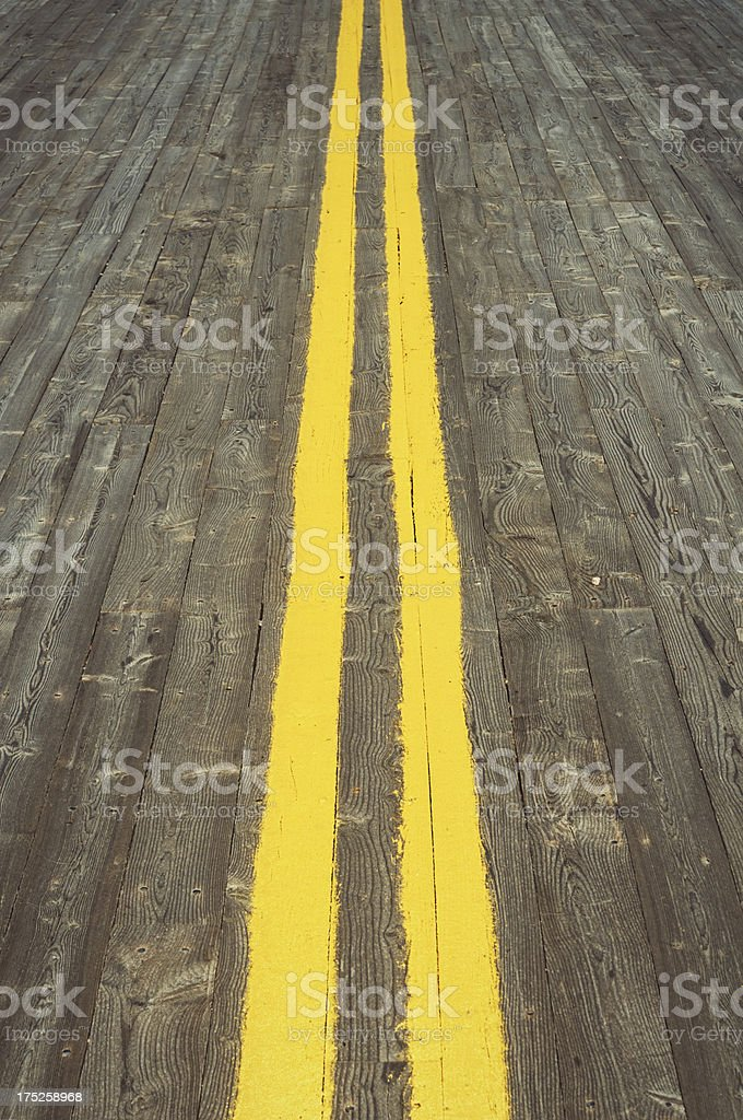 Wooden Road royalty-free stock photo