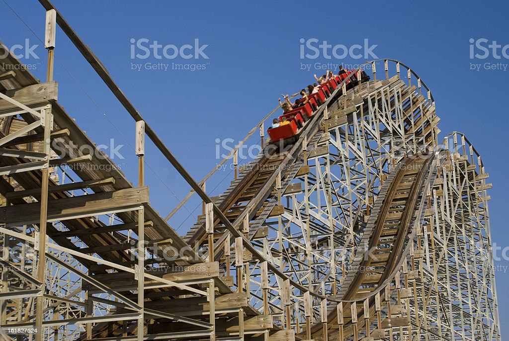 Wooden Rollercoaster stock photo
