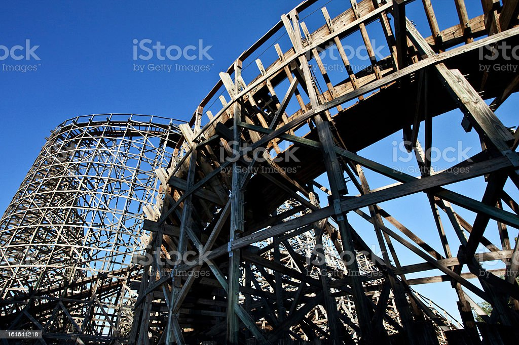 Wooden Rollercoaster royalty-free stock photo