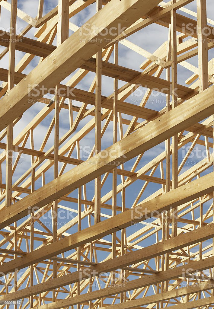 Wooden Roof Frame royalty-free stock photo
