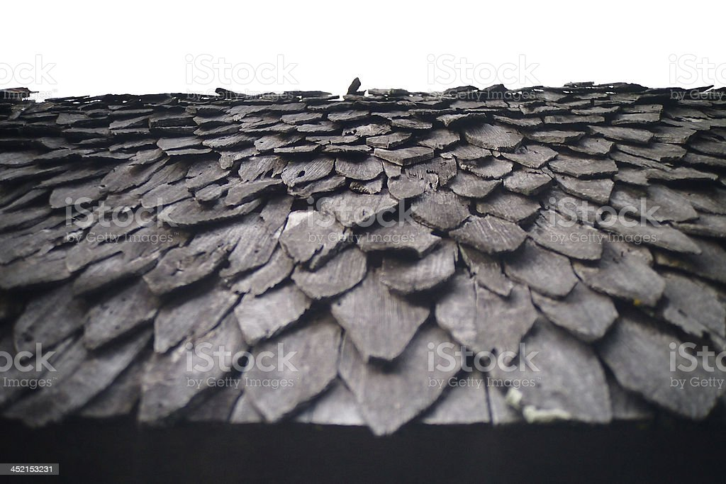 Wooden roof. stock photo