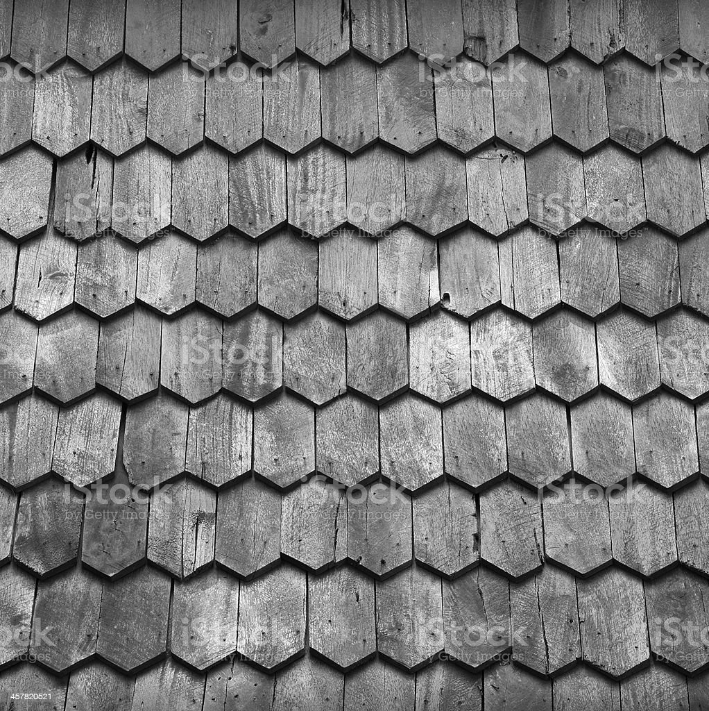 Wooden Roof stock photo