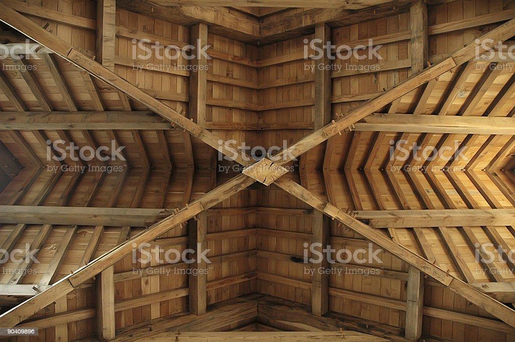 木製屋根-トラス ロイヤリティフリーストックフォト