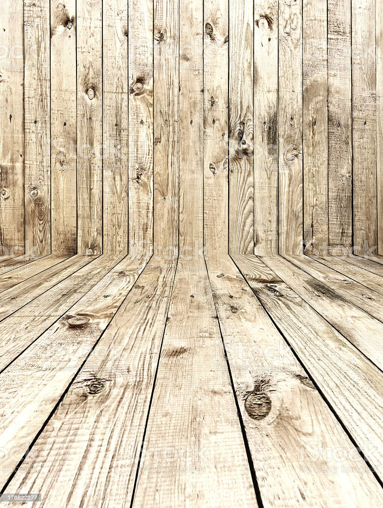 Wooden Room royalty-free stock photo