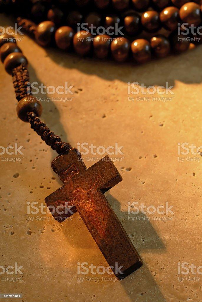 Wooden Rosaries stock photo