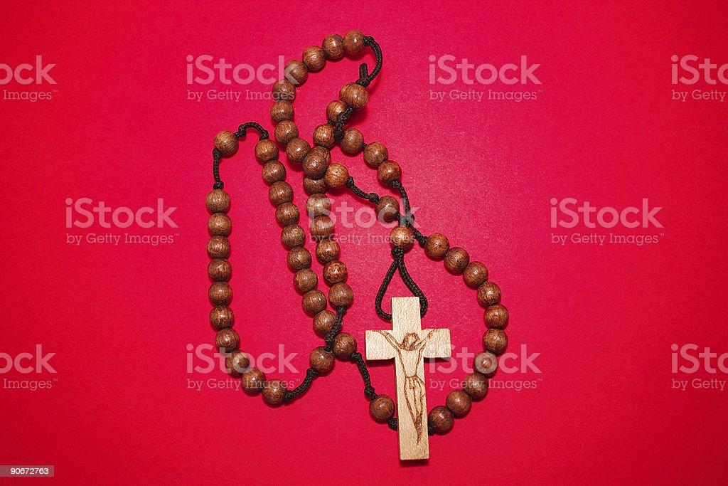 Wooden Rosary royalty-free stock photo