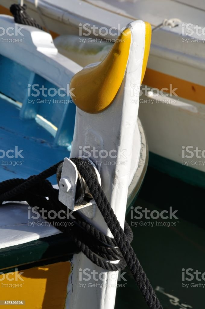Wooden row boat in Cassis
