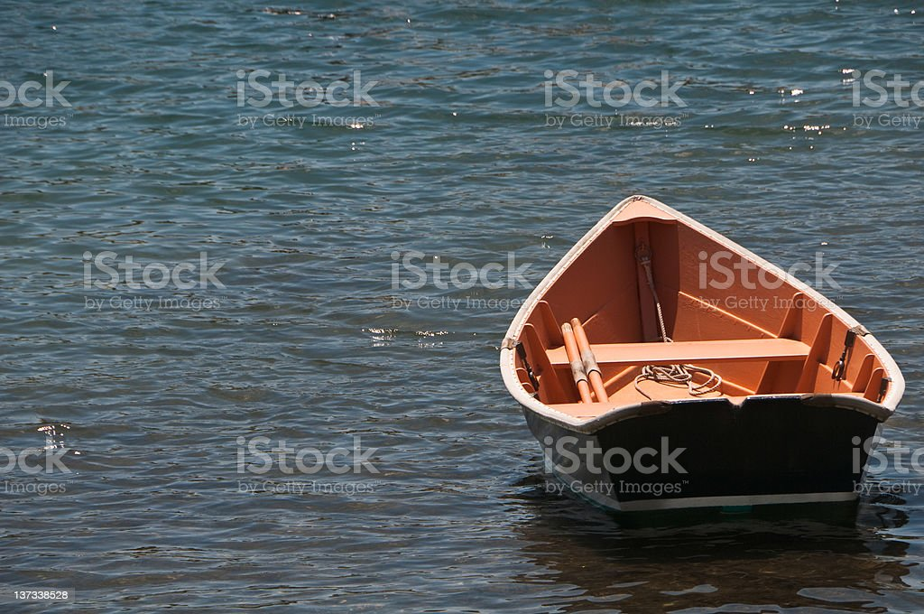 Wooden Rowboat stock photo
