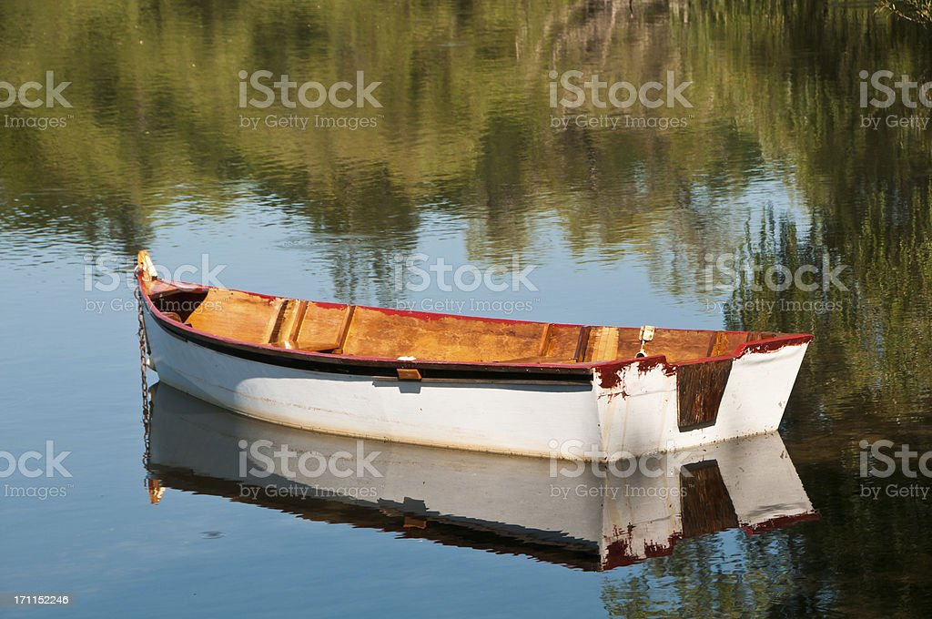 Wooden Rowboat royalty-free stock photo