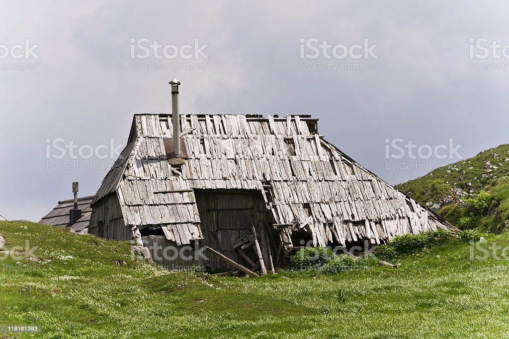 wooden ruin royalty-free stock photo