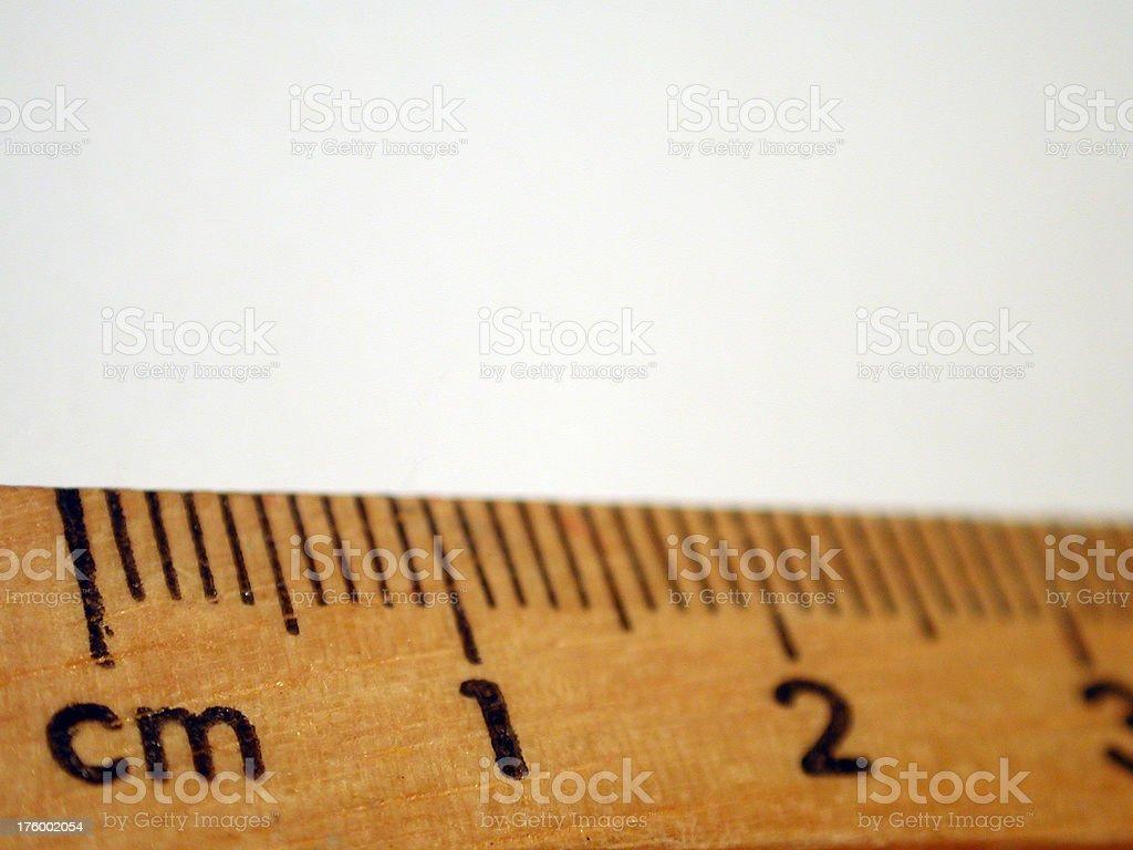 Wooden ruler macro royalty-free stock photo