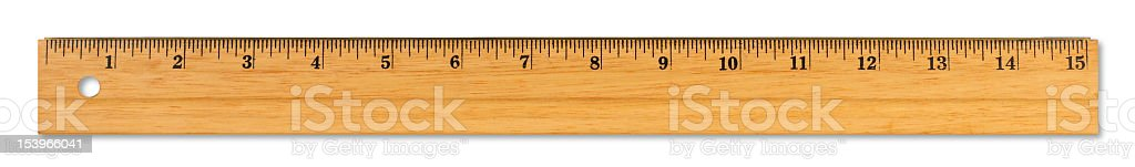 XL Wooden Ruler stock photo