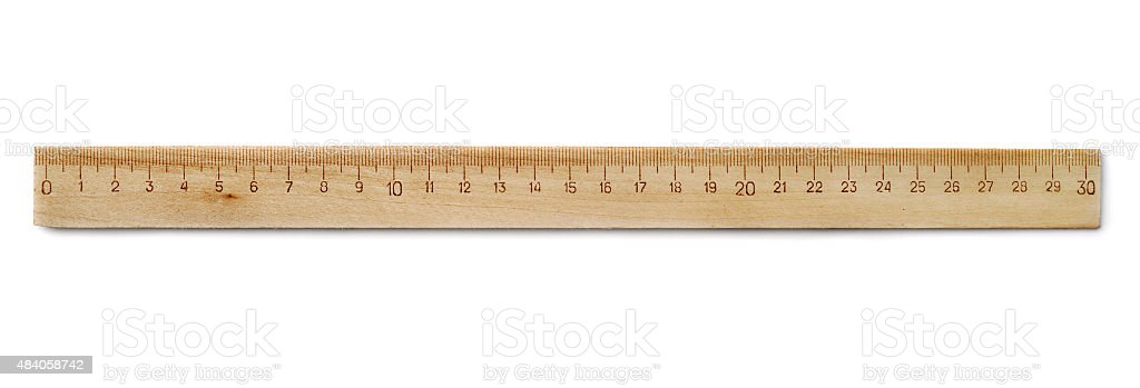 Wooden ruler stock photo