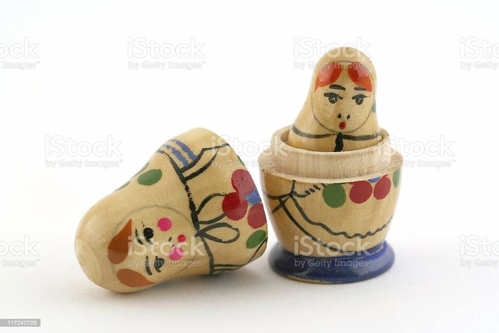 Wooden Russian Dolls royalty-free stock photo