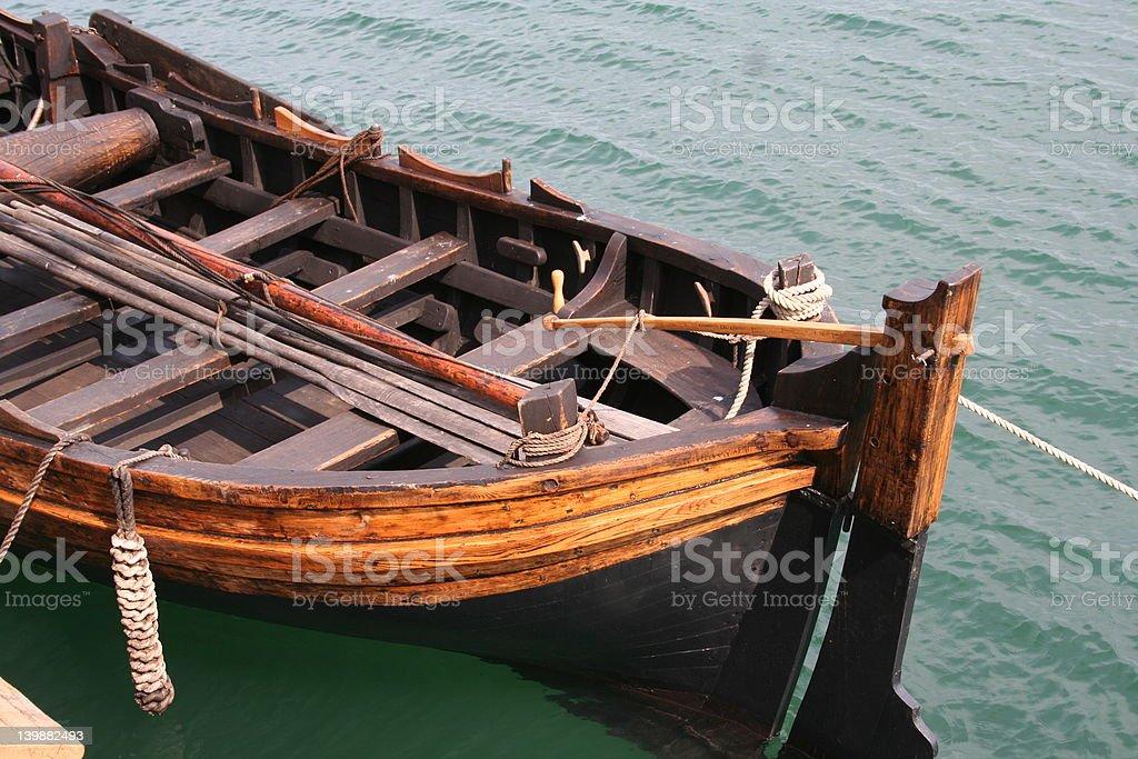 Wooden Sailboat royalty-free stock photo