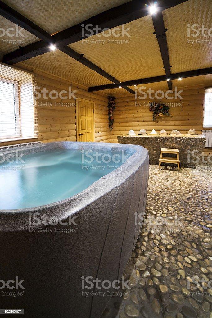 wooden sauna royalty-free stock photo