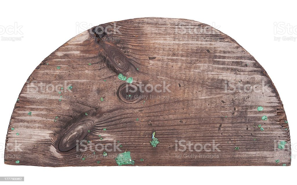 Wooden semicircle royalty-free stock photo