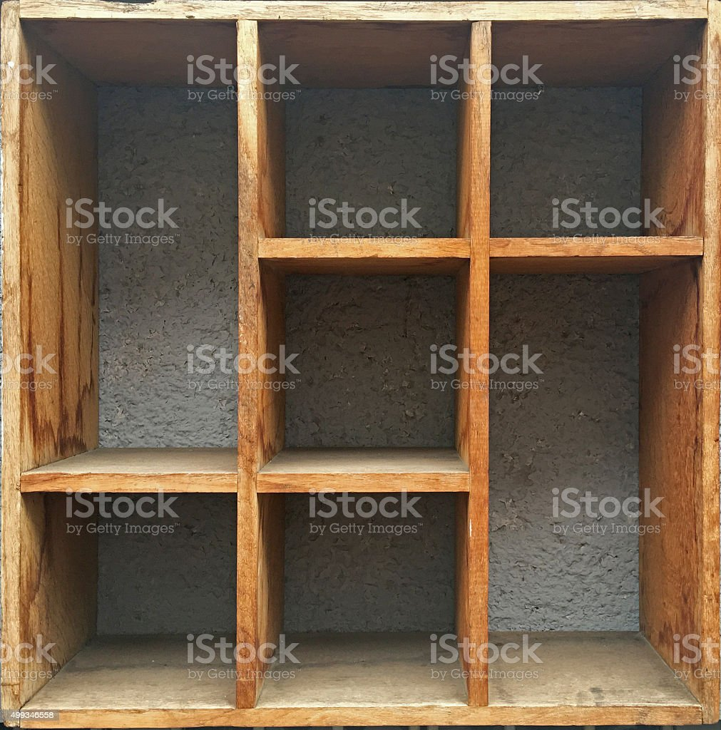Wooden septate box stock photo