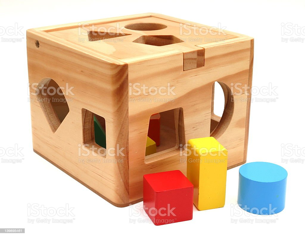 Wooden Shape Toy stock photo