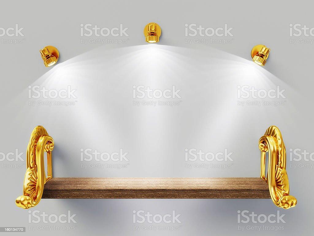 wooden shelf royalty-free stock photo
