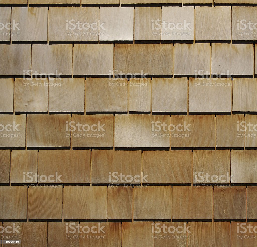 Wooden Shingle Background stock photo