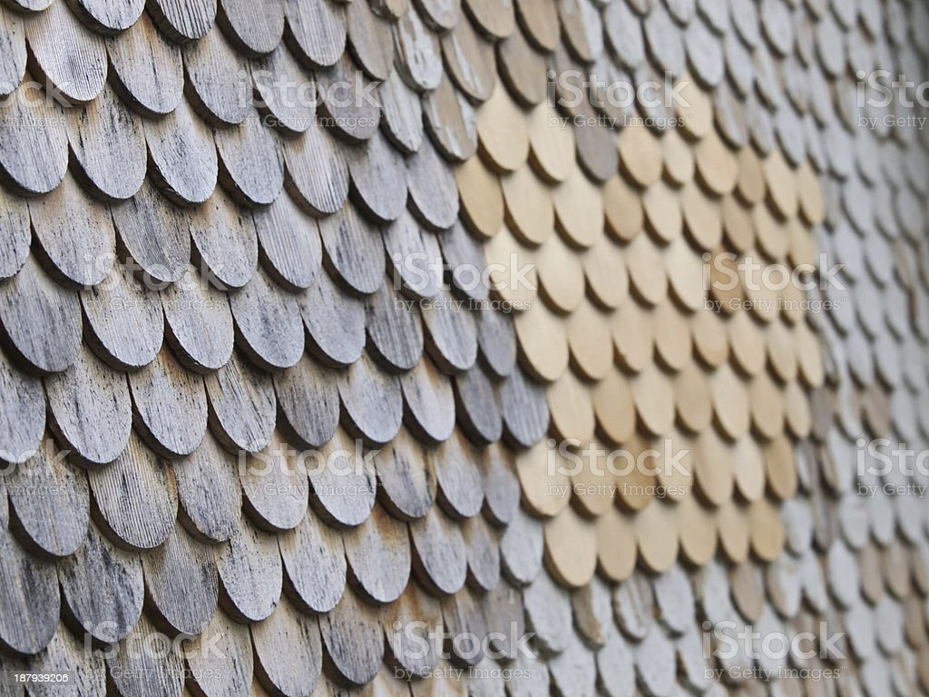 Wooden shingle royalty-free stock photo