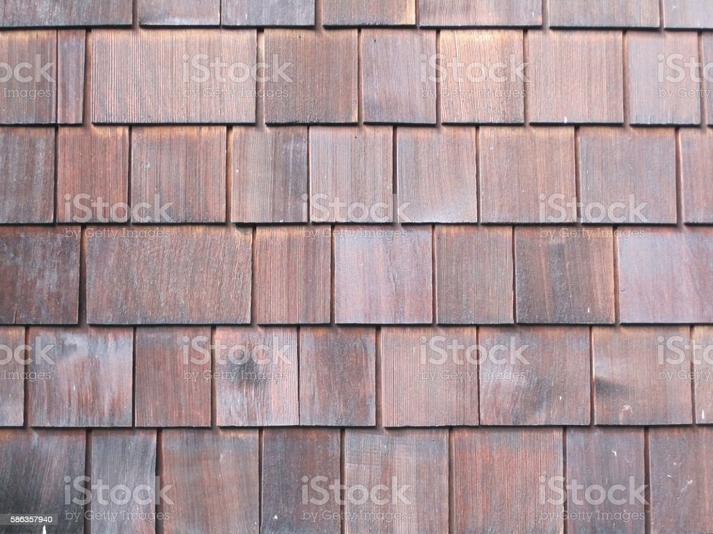 Wooden shingles background stock photo
