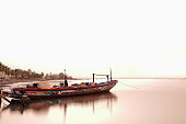 Wooden ship anchored for the night. Ziguinchor-Senegal. 2340