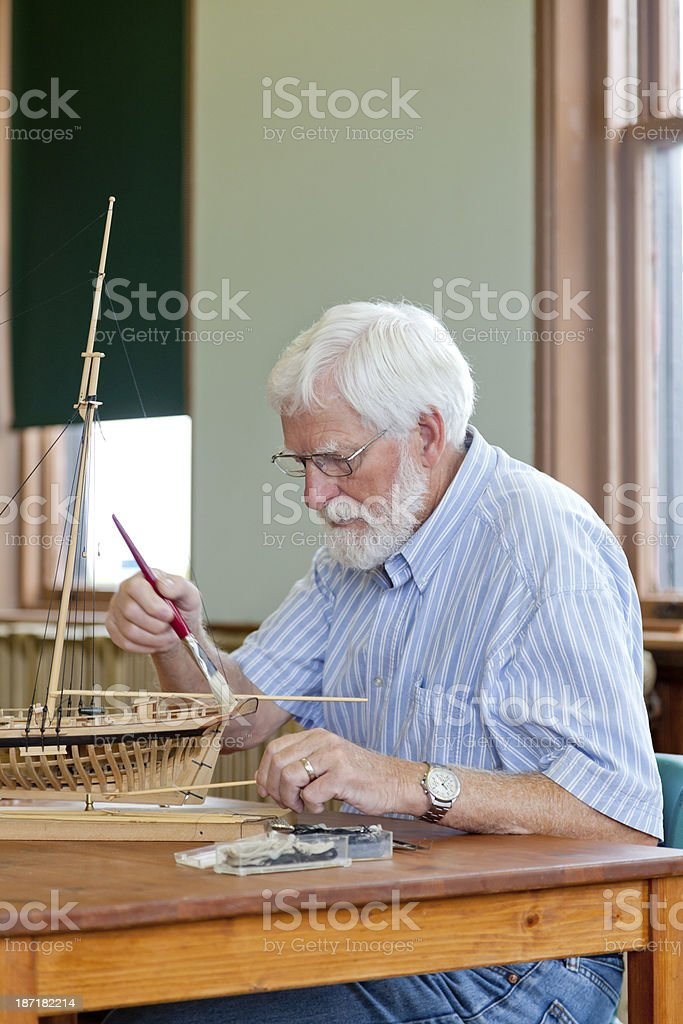 Wooden Ship Building royalty-free stock photo