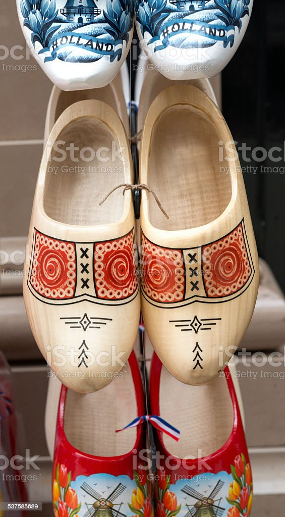 Wooden shoes from Holland stock photo