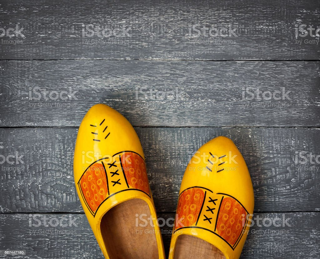 Wooden shoes of the Netherlands stock photo