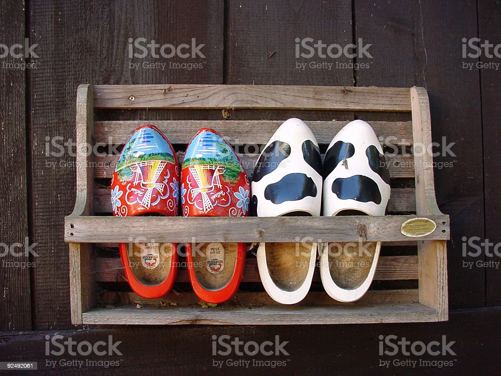 Wooden shoes royalty-free stock photo