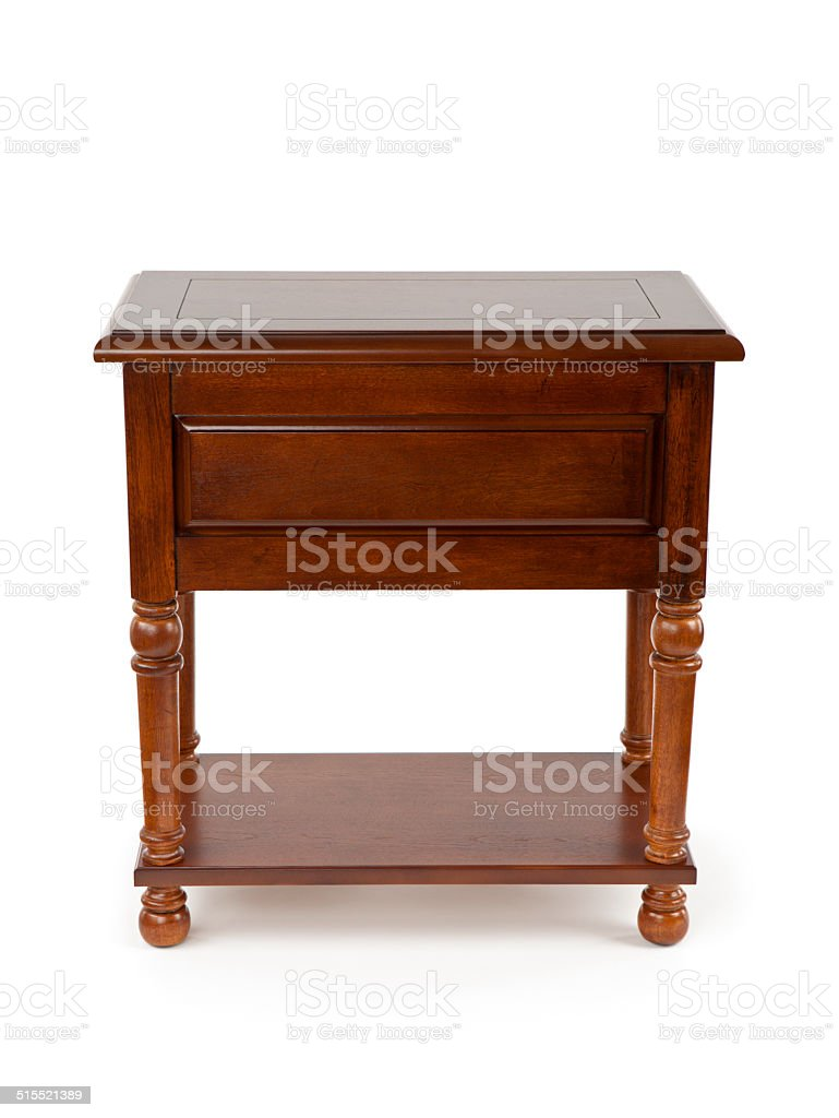 Wooden Side Table stock photo