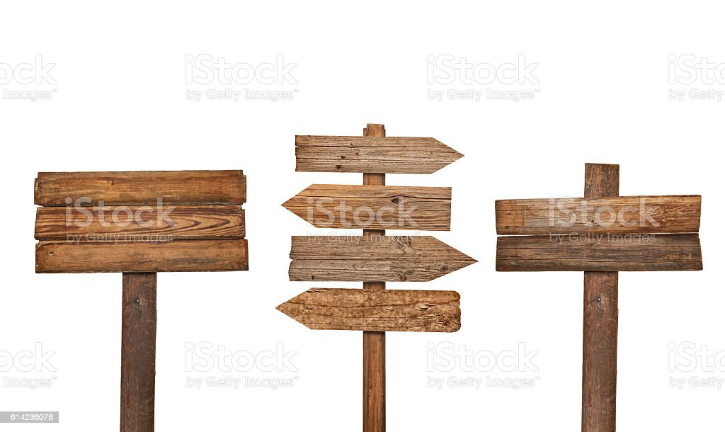 wooden sign background message stock photo
