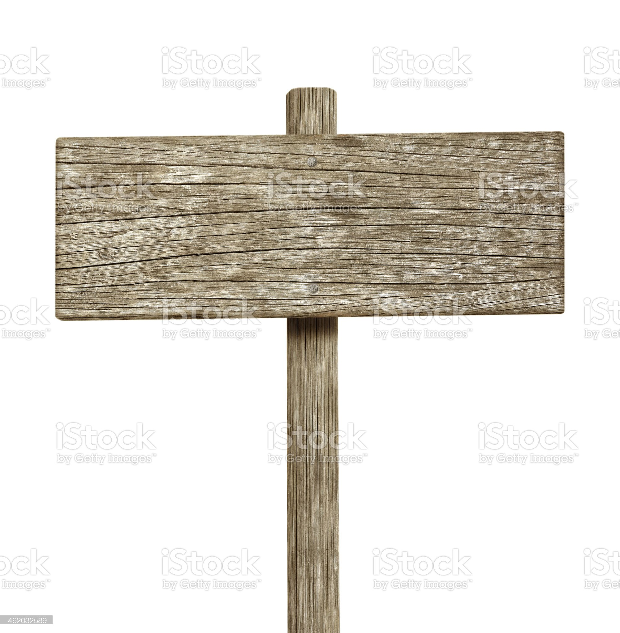 Wooden sign isolated on white royalty-free stock photo