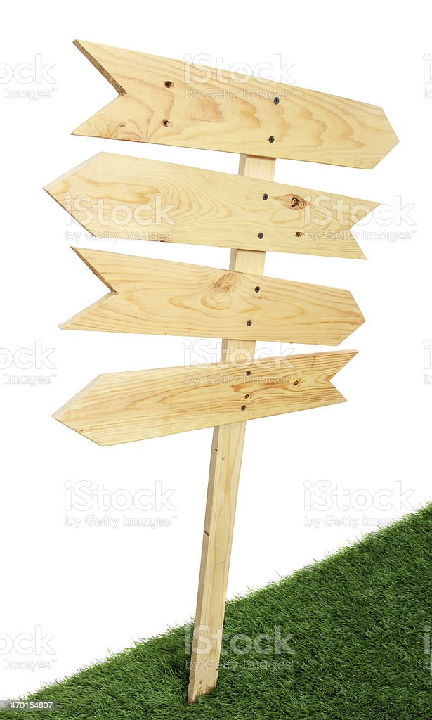 Wooden sign royalty-free stock photo
