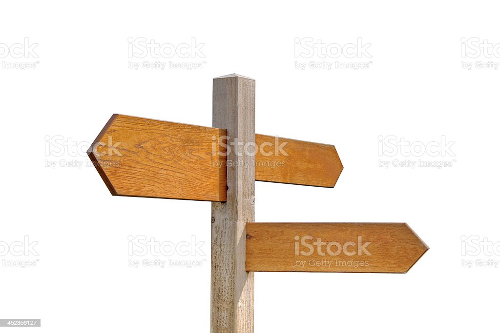 Wooden Sign Post stock photo