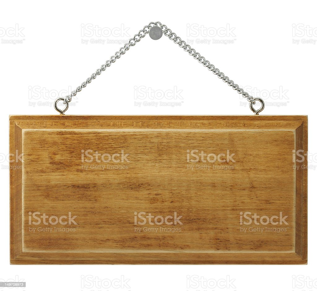 Wooden signboard royalty-free stock photo
