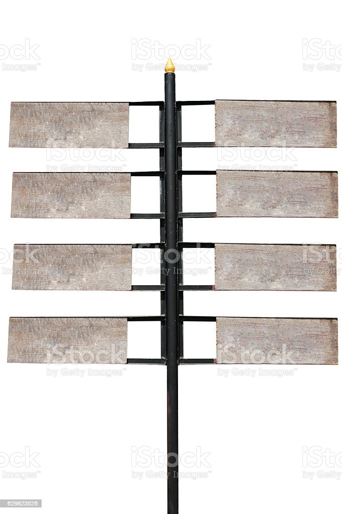 Wooden signpost stock photo