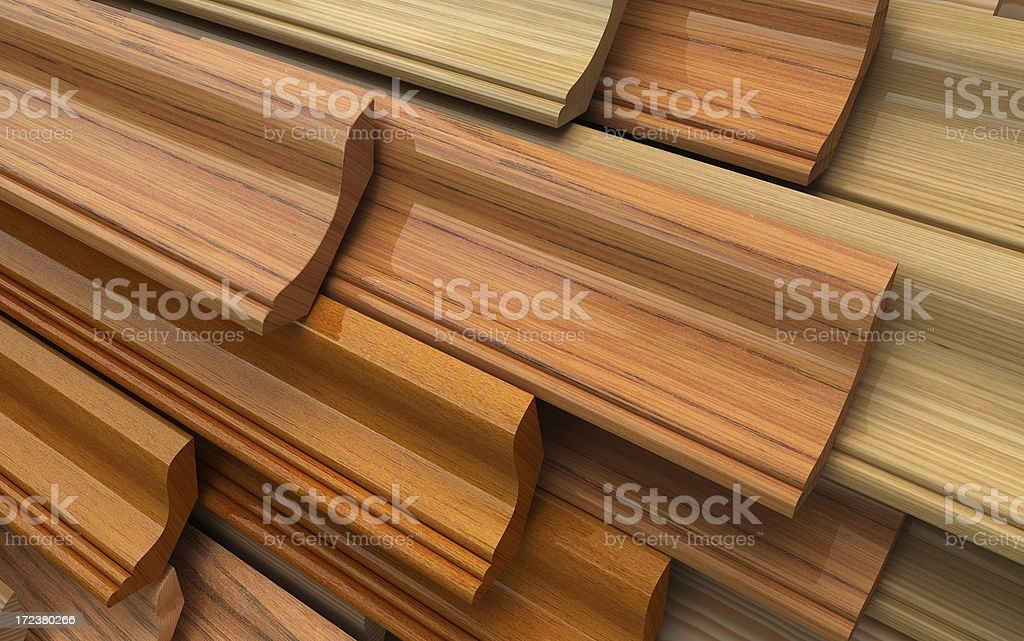 Wooden skirting royalty-free stock photo