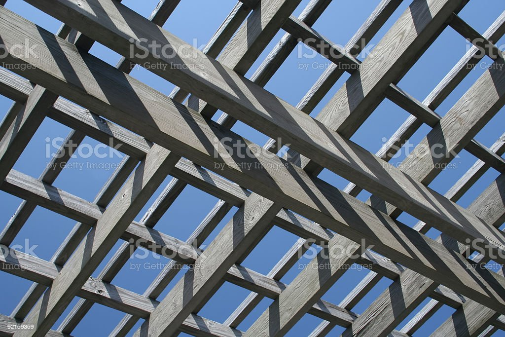 Wooden Sky royalty-free stock photo