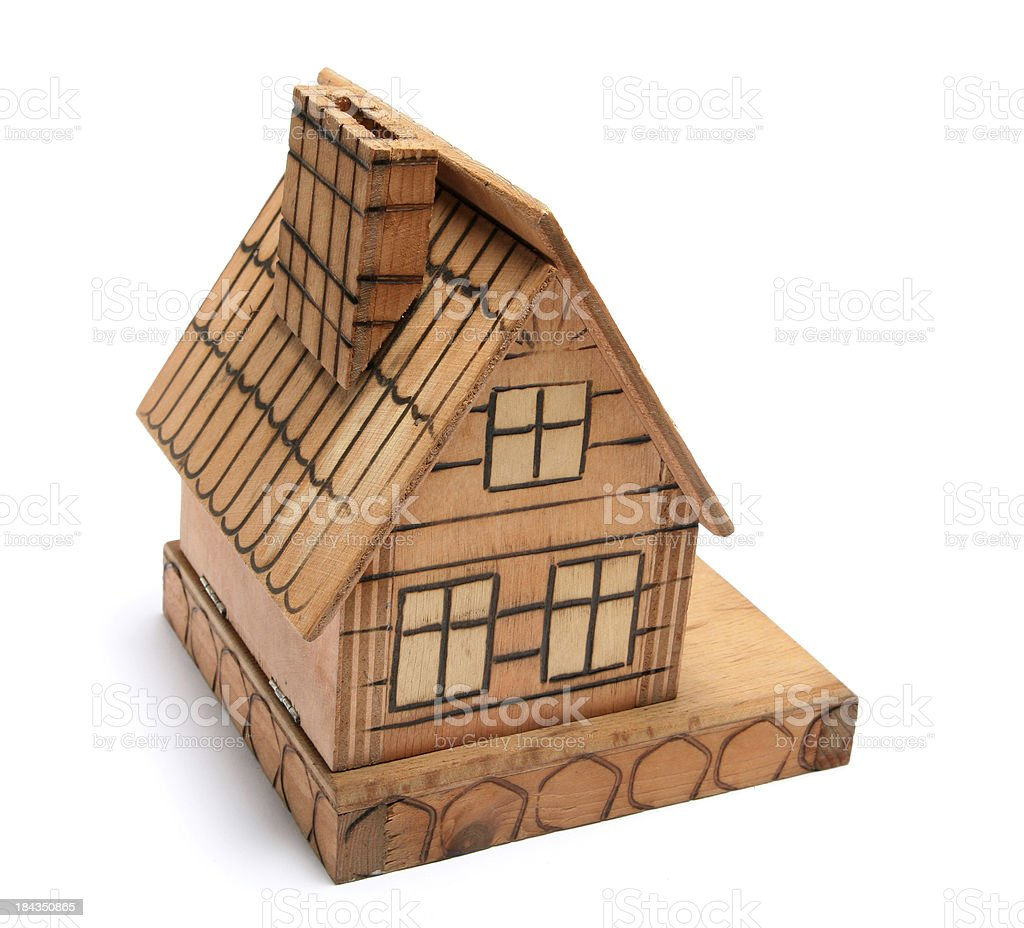Wooden small house royalty-free stock photo