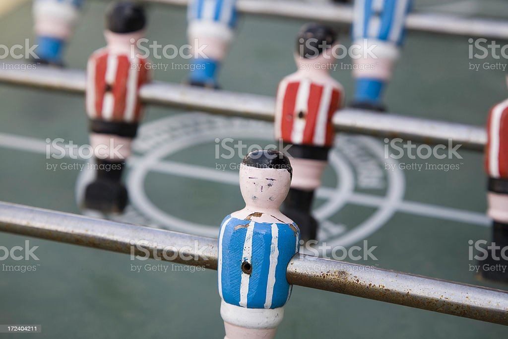 wooden soccer player royalty-free stock photo