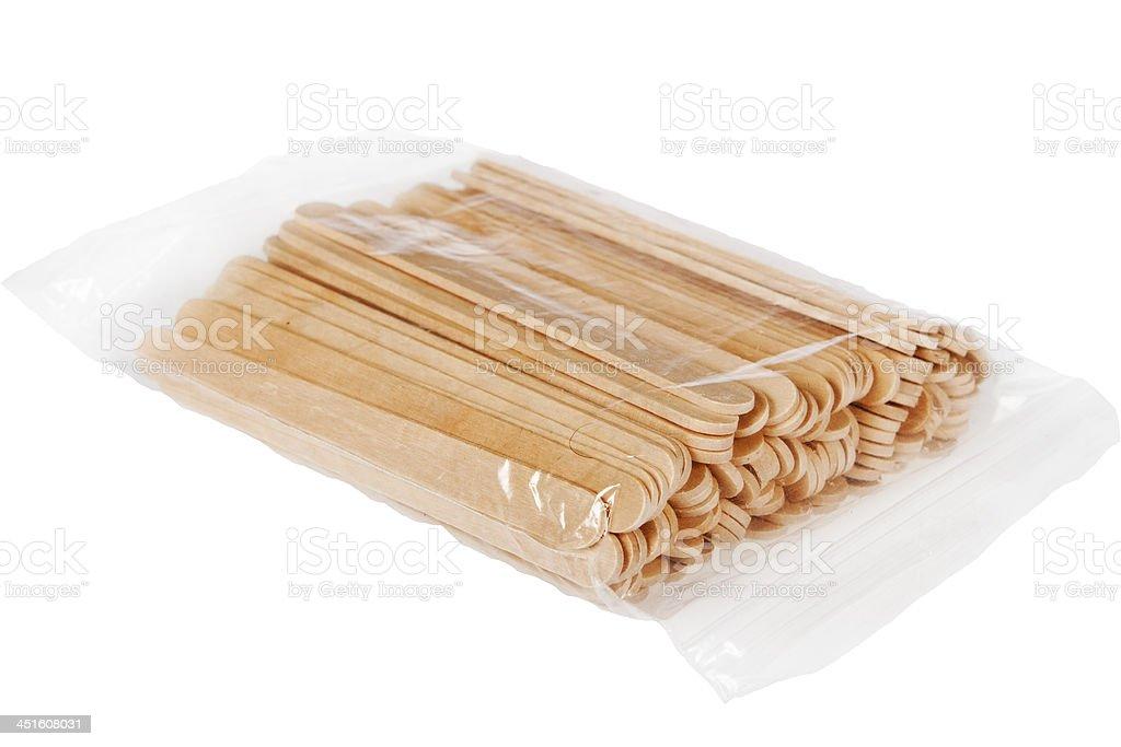 Wooden spatulas. stock photo